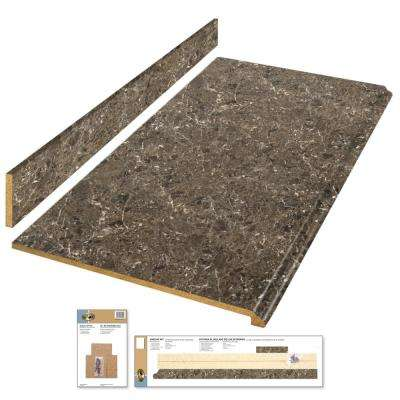 8 ft. Laminate Countertop Kit in Breccia with Premium Antique Finish and Valencia Edge