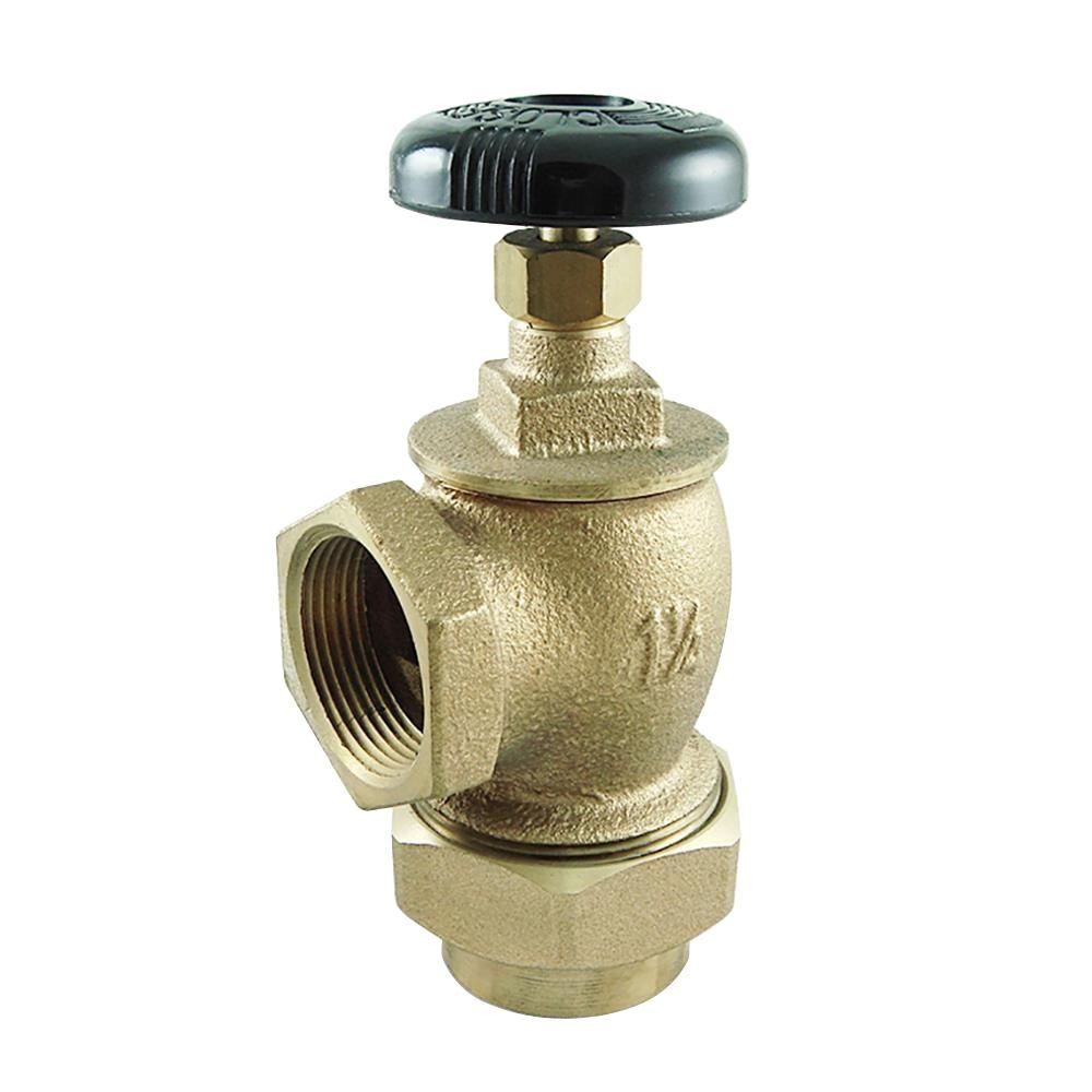 1-1/4 in. Bronze Convector Steam Angle Valve-UV35506 - The Home Depot