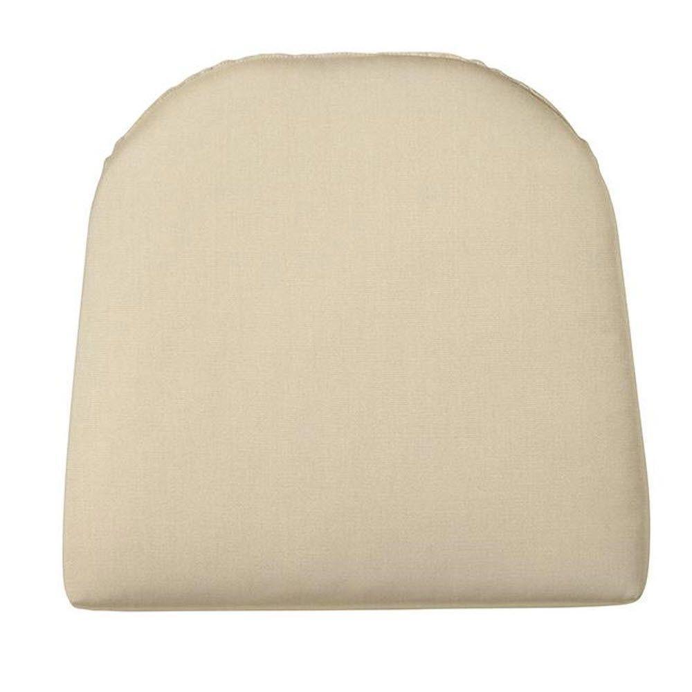 Home Decorators Collection Sunbrella Flax Contoured Outdoor Seat Cushion