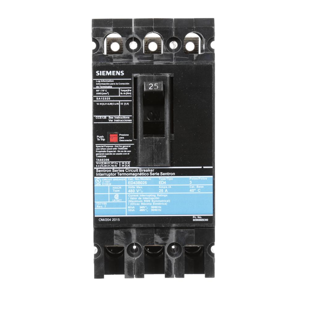Murray 15 Amp Three Pole Type Mp Circuit Breaker Mp315 The Home Depot 15amp Singlepole Mpcircuit 25 3 Ed 18 Ka