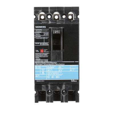 25 Amp 3-Pole Type ED 18 kA Circuit Breaker
