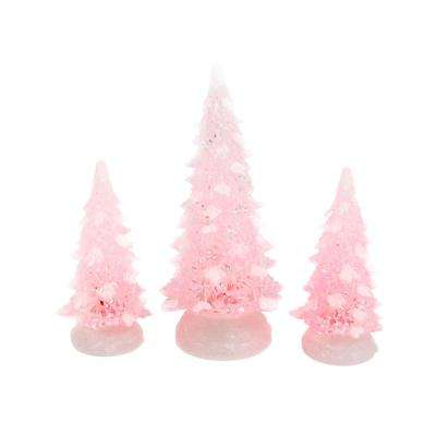 S/3 15.75 in. H Color Changing Holiday Trees with Timer and Remote