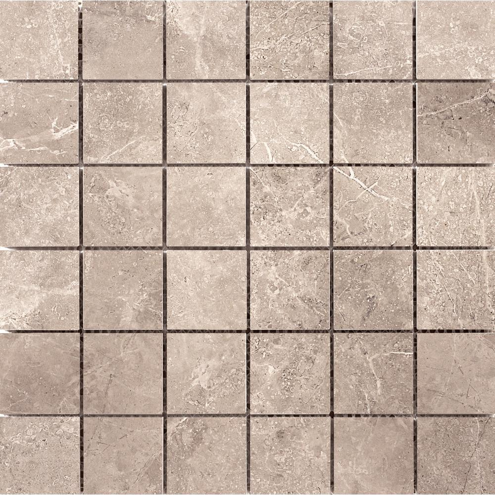 Emser realm nation in x in x 8mm ceramic for Installing glass tile with mesh back