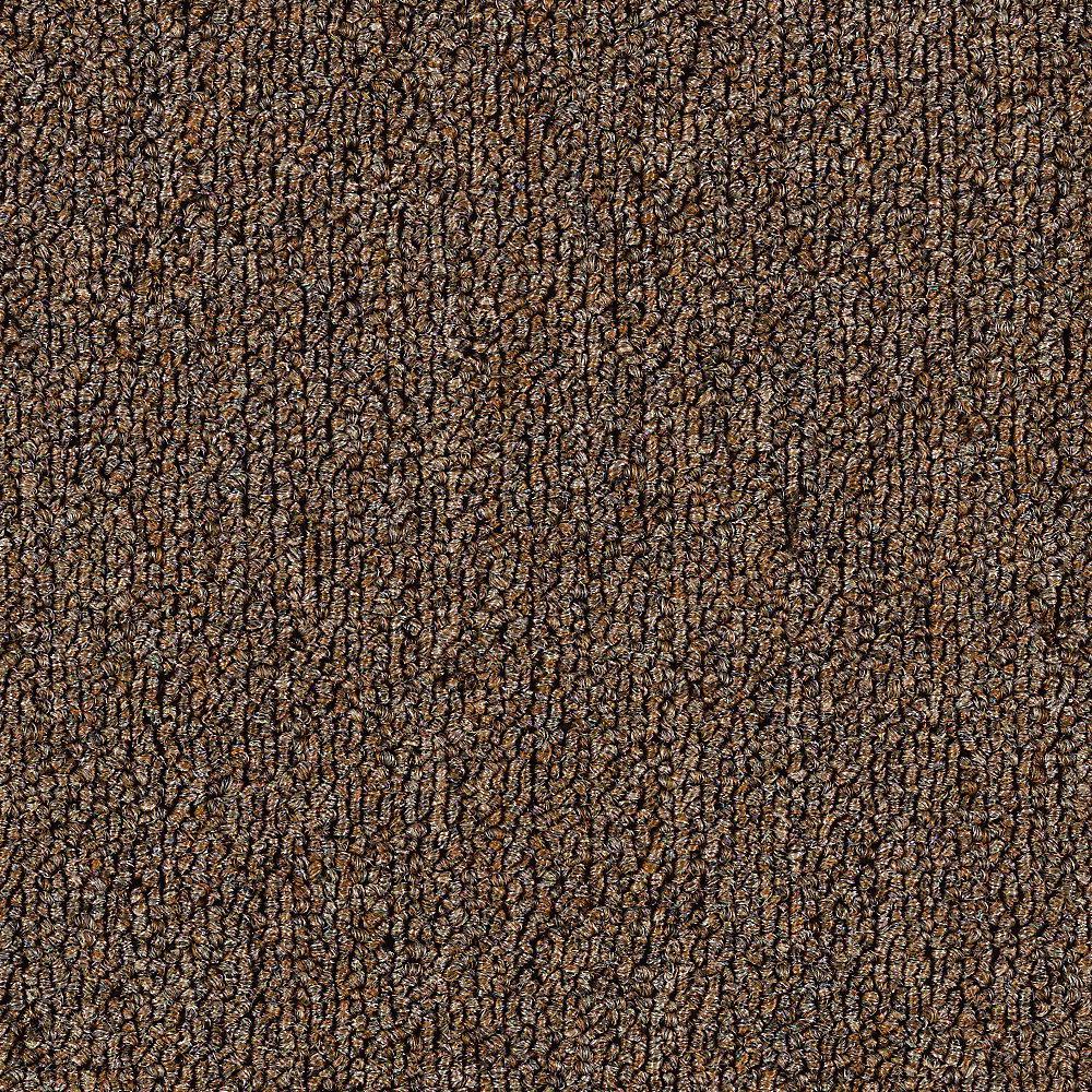 Carpet Sample - Top Rail 26 - Color Latte Loop 8 in. x 8 in.