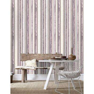 Romany Stripe Lavender Wallpaper