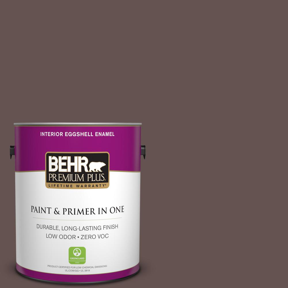 BEHR Premium Plus 1 gal. #BNC-33 Harvest Oak Eggshell Enamel Zero VOC Interior Paint and Primer in One