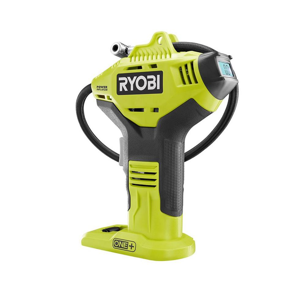 RYOBI 18-Volt ONE+ Lithium-Ion Cordless High Pressure Inflator with Digital Gauge (Tool-Only)