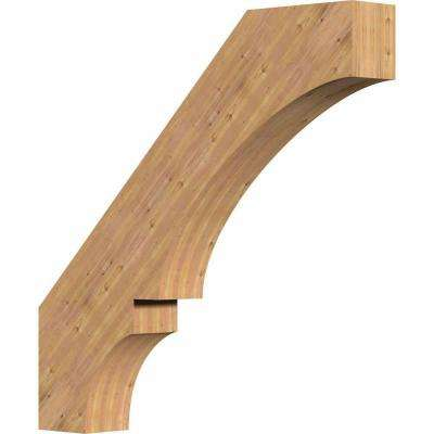 5.5 in. x 36 in. x 36 in. Western Red Cedar Balboa Smooth Brace