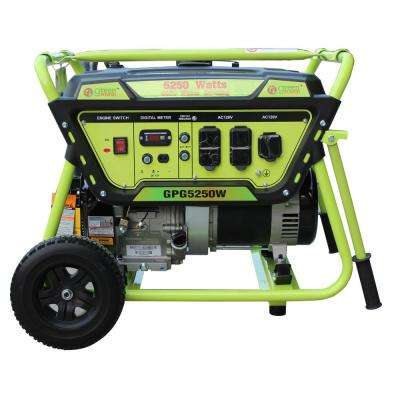 Green Power 5250/4450-Watt Gasoline Powered Recoil Start Portable Generator with LCT 306cc 10HP Engine