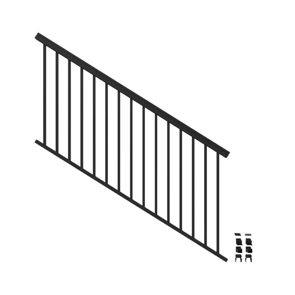 VersaRail 6 ft. x 36 in. Matte Black Aluminum Rail Stair Kit