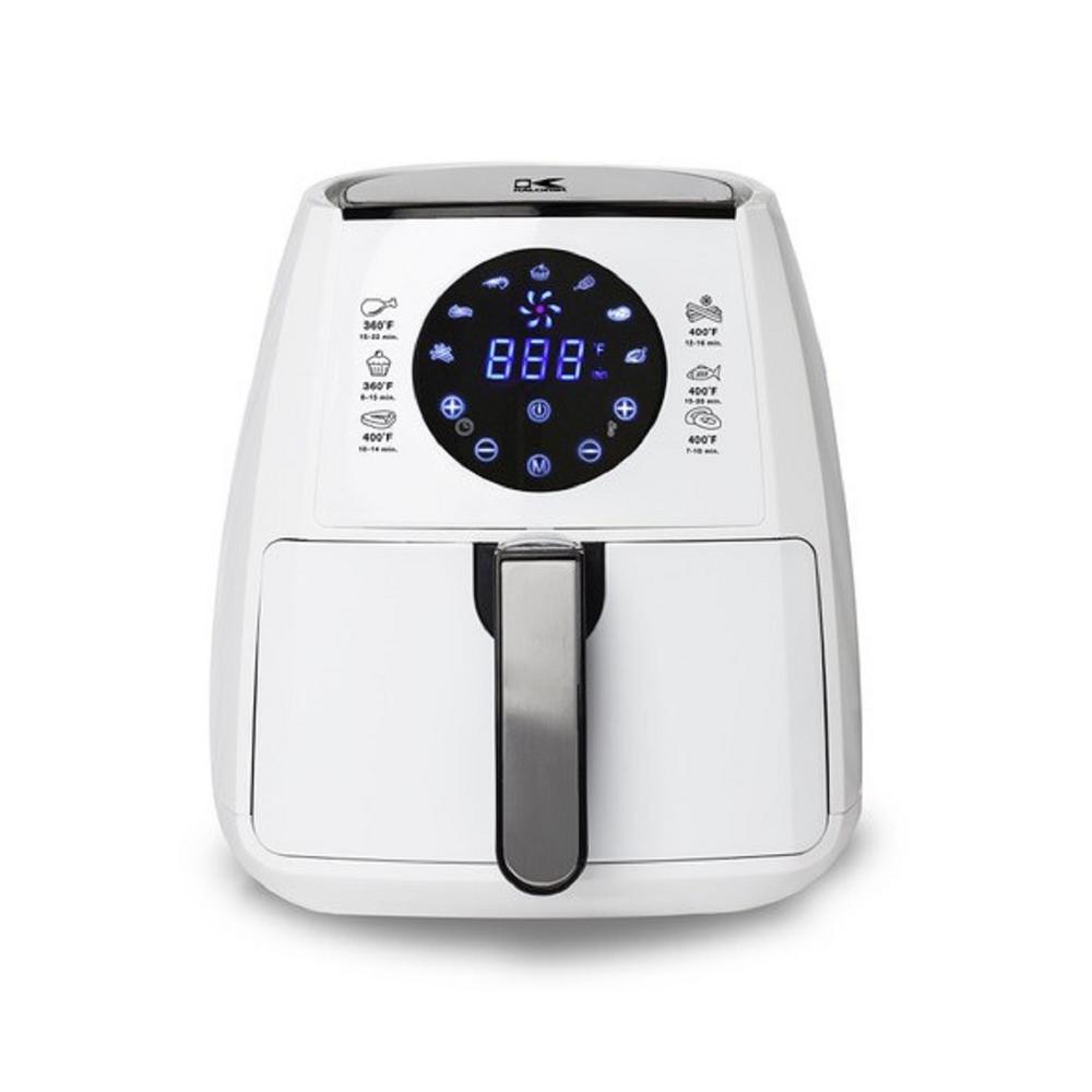 3.2 Qt. Digital Display Air Fryer in White
