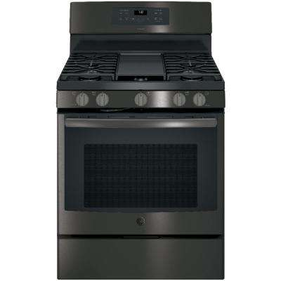 Adora 5.0 cu. ft. Gas Range with Self-Cleaning Convection Oven in Black Stainless Steel