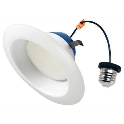 6 in. 75-Watt Equivalent 2700K Soft White Integrated LED Recessed Downlight Trim