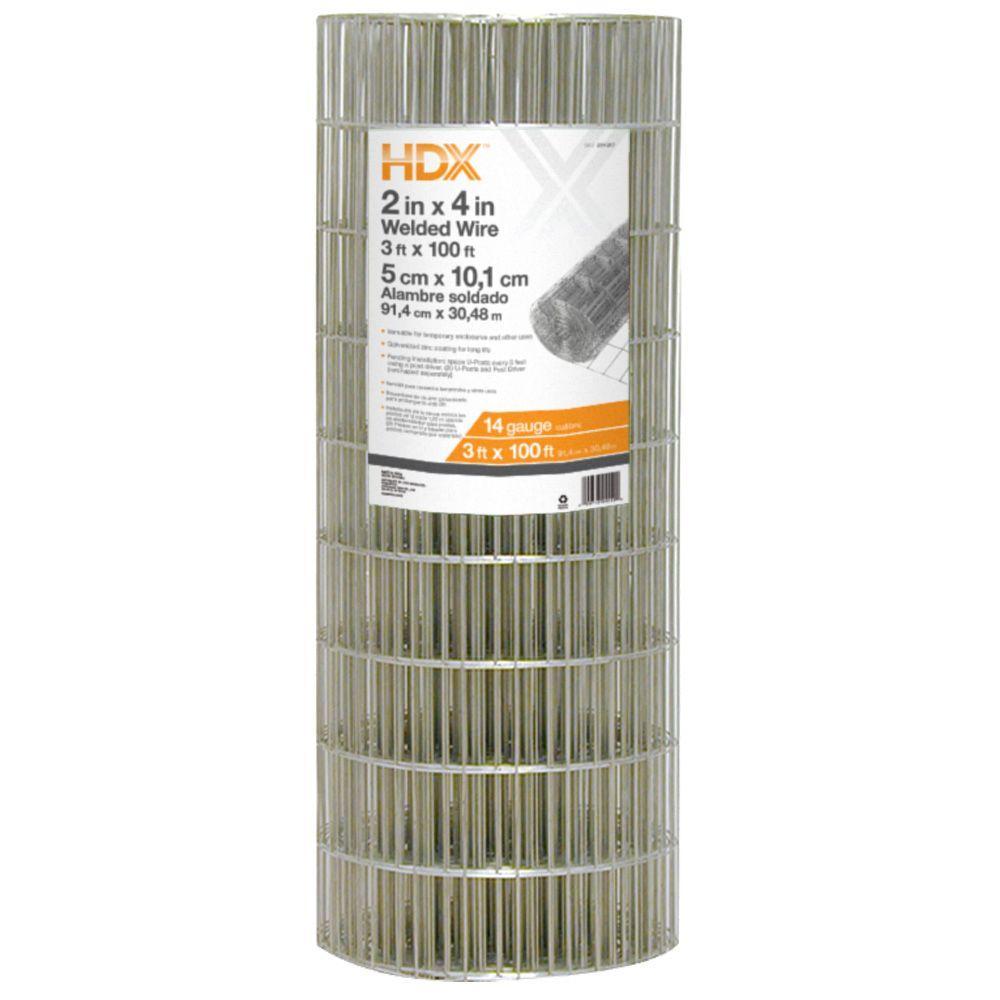 HDX 3 ft. x 100 ft. 14-Gauge Welded Wire