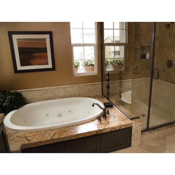 Hydro Systems Studio Dual Oval 66 In Acrylic Oval Drop In Whirlpool Bathtub In White Sdo6644awpw The Home Depot