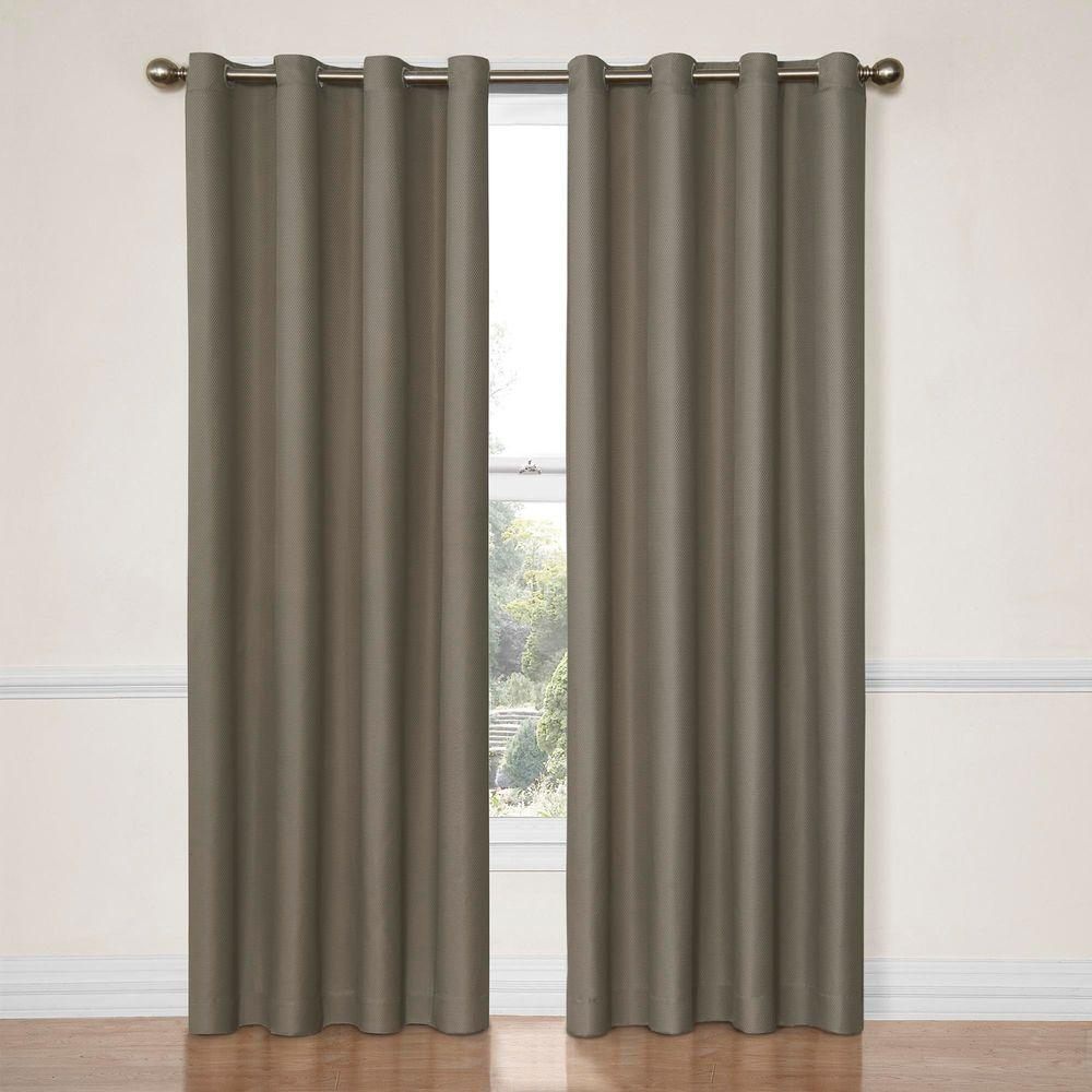 Dane Blackout Window Curtain Panel In Smoke 52 W X 63 L