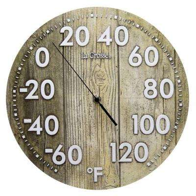 12 in. Polyresin Round Dial Thermometer