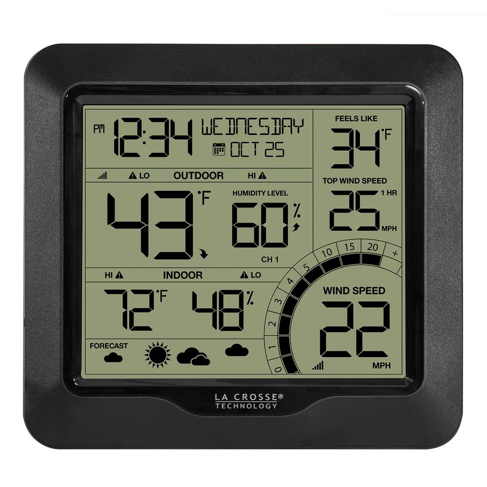 la crosse technology wind speed weather station with wind sensor