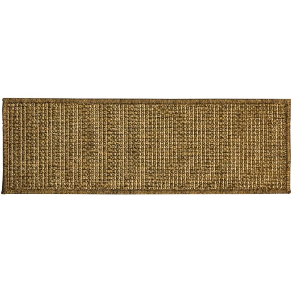 Ottomanson Jardin Collection Solid Design Brown 9 in. x 26 in ...