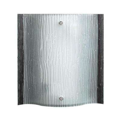 2-Light Polished Chrome Sconce with Etched Glass