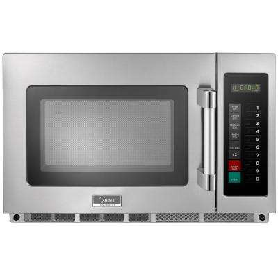 1.2 cu. ft. 2100-Watt Commercial Counter Top Microwave Oven in Stainless Steel Interior and Exterior, Programmable