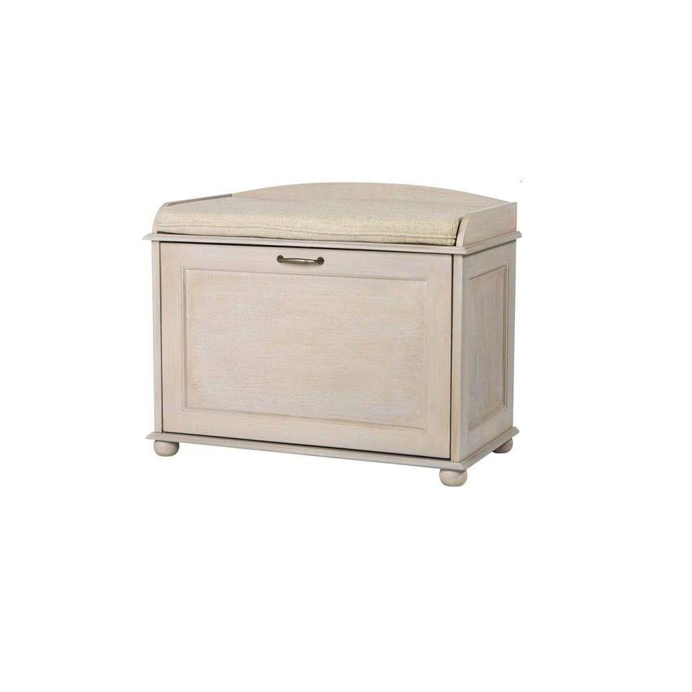 Home Decorators Collection Hidden Driftwood with Grey Storage Shoe Bench