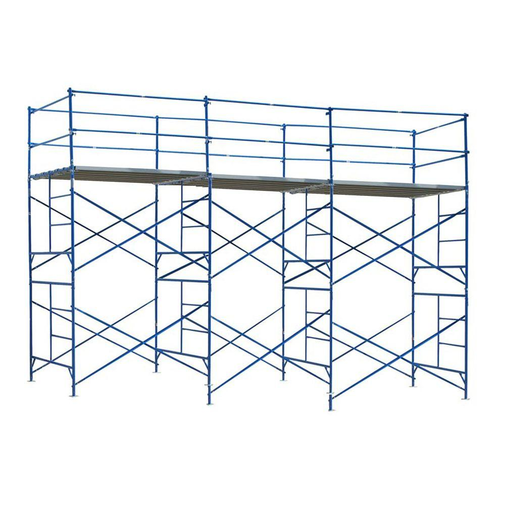 PRO-SERIES 10 ft. x 21 ft. x 5 ft. 2-Story Commercial Grade Scaffold 1,500 lb. Load Capacity