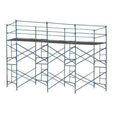 10 ft. x 21 ft. x 5 ft. 2-Story Commercial Grade Scaffold 1,500 lb. Load Capacity