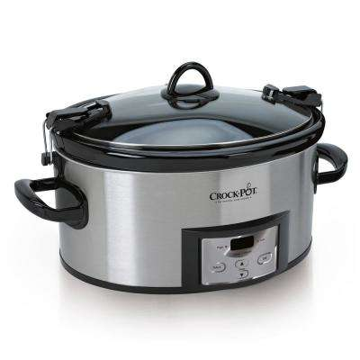 6 Qt. Programmable Slow Cooker with Locking Lid for Portability
