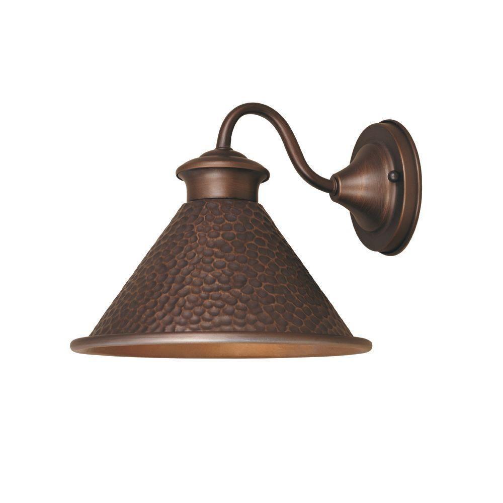 Dark Sky Essen 1-Light Outdoor Antique Copper Short Arm Wall Lamp