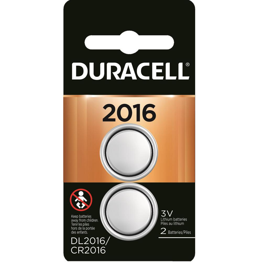 Duracell Coppertop Lithium Coin 2016 Battery (2-Pack)