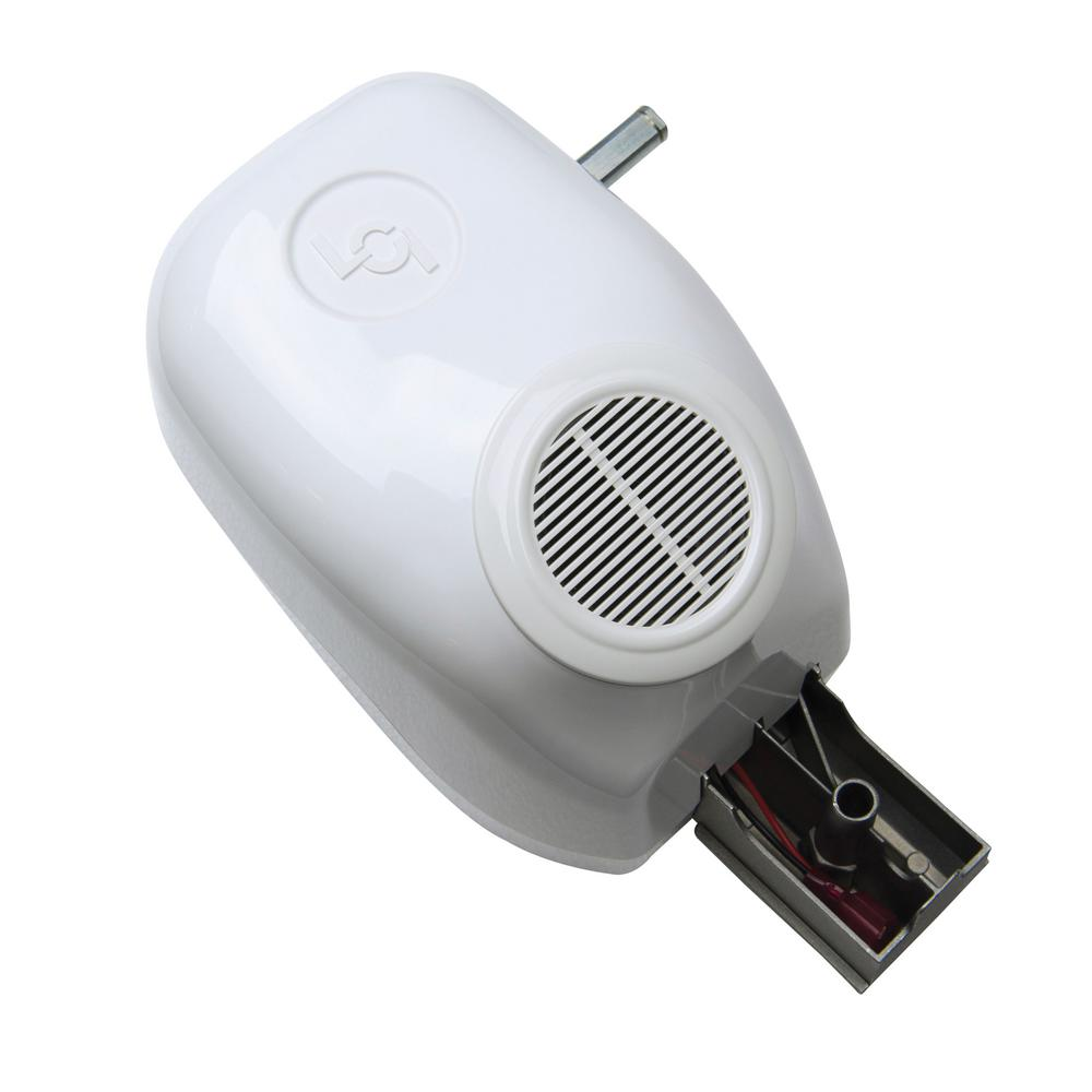 Power Awning Idler Head Assembly with Speaker - White This Idler Head Assembly is designed for use with Lippert Components Power Awnings only. The Drive Head Assembly includes a speaker for the ultimate enjoyment. The included assembly features a white coloring.