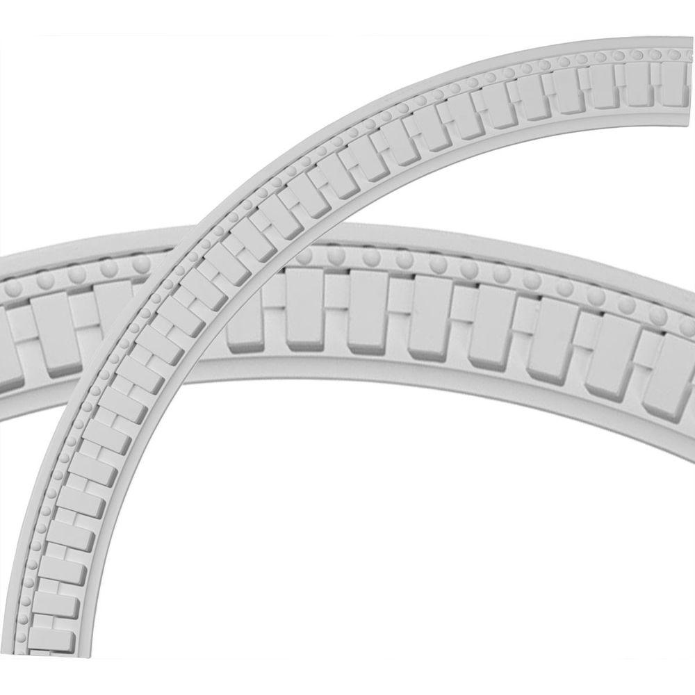 47 in. Dentil and Bead Ceiling Ring