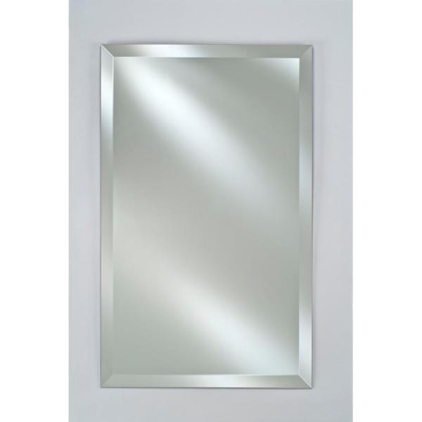 Single Door 20 in. x 30 in. Recessed Medicine Cabinet Basix Brushed Silver