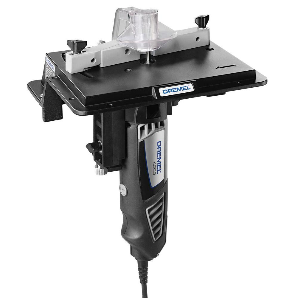Dremel Rotary Tool Shaper/Router Table to Sand, Edge, Groove, and Slot Wood