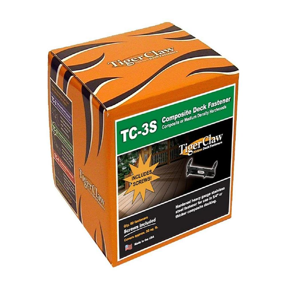 Tiger Claw TC-3S Hidden Deck Fasteners (90-Pack)