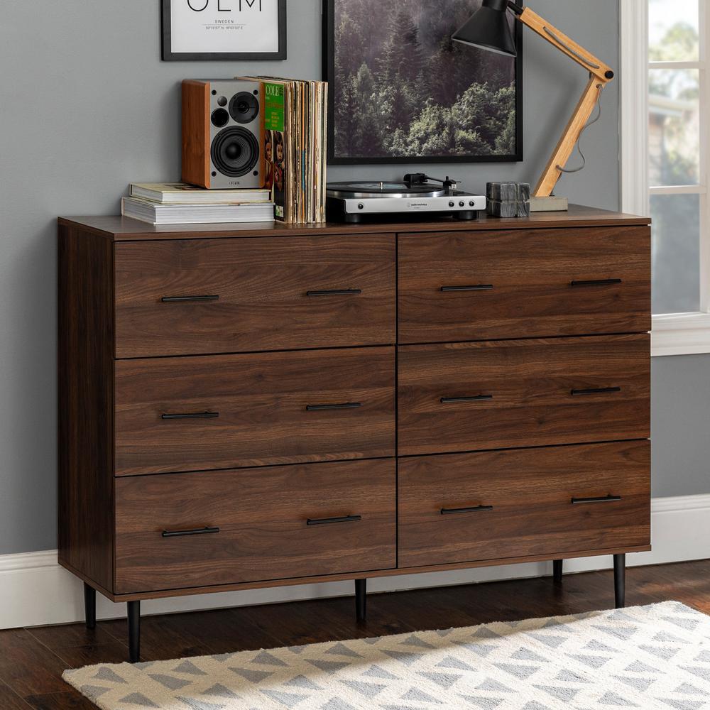 Walker Edison Furniture Company Modern Wood 6-Drawer Buffet - Dark Walnut was $414.81 now $284.88 (31.0% off)