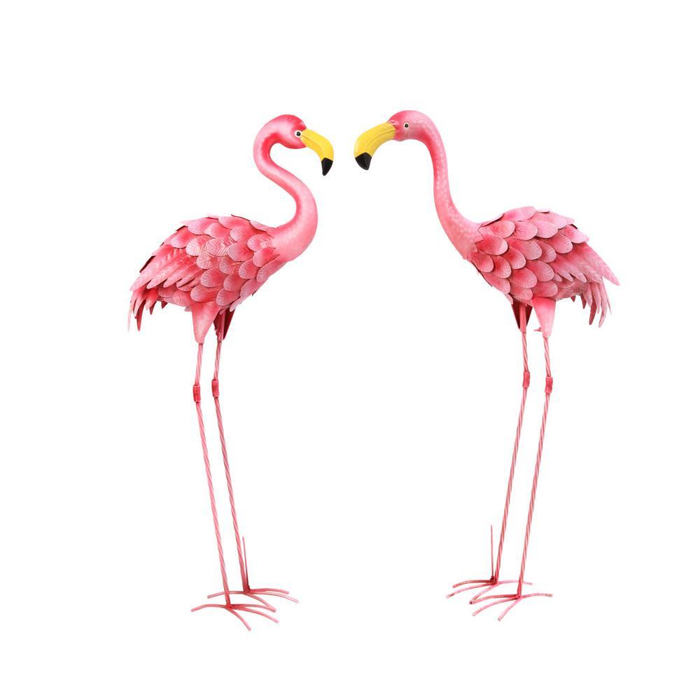 36 in. H Flamingo Figurines Garden Statue (2-Set)