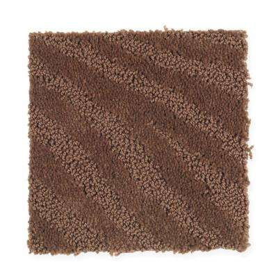 Carpet Sample - Typhoon - Color Fired Clay Pattern 8 in x 8 in