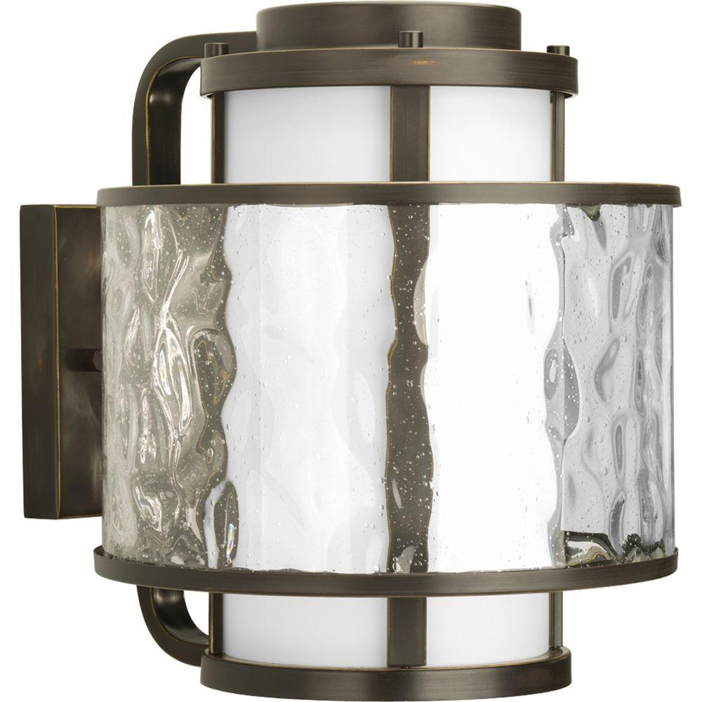 Bay Court Collection 1-Light Outdoor Antique Bronze Wall Lantern