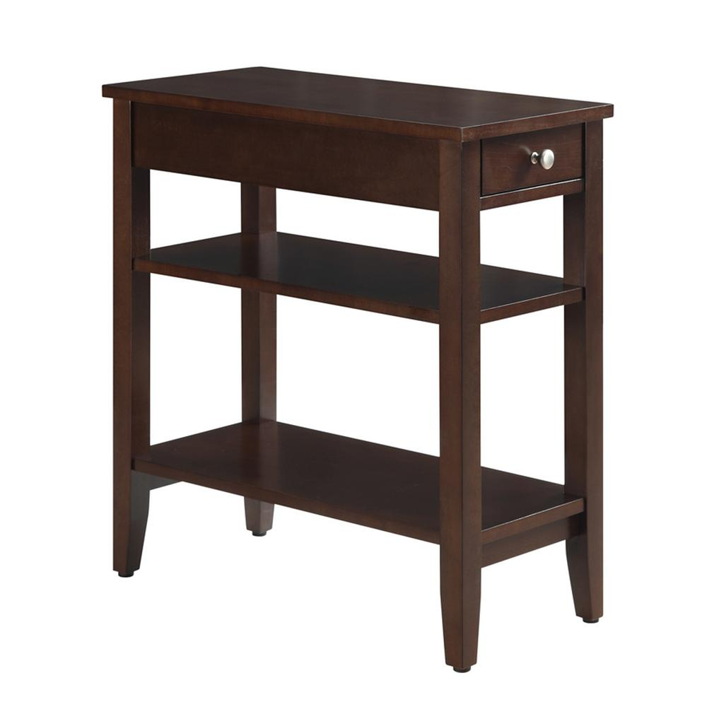 Convenience Concepts American Heritage 3 Tier Espresso End Table