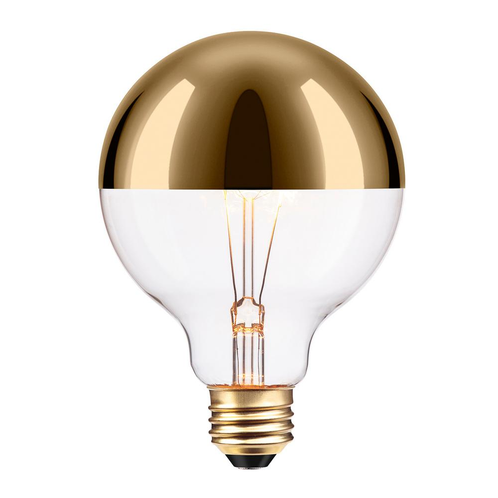 Globe Electric 40w Gold Designer Vintage Edison Oro Incandescent Light Bulb 84649 The Home Depot