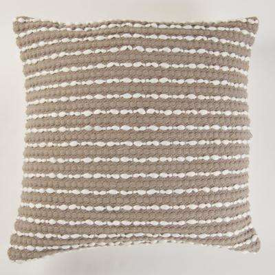 Handwoven Textured Pillow in Grey