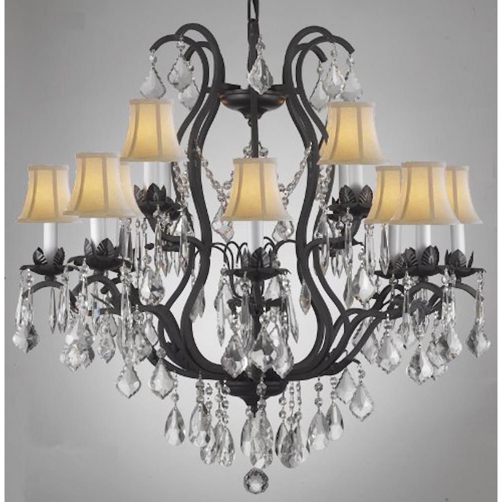 Versailles 12 Light Black Wrought Iron