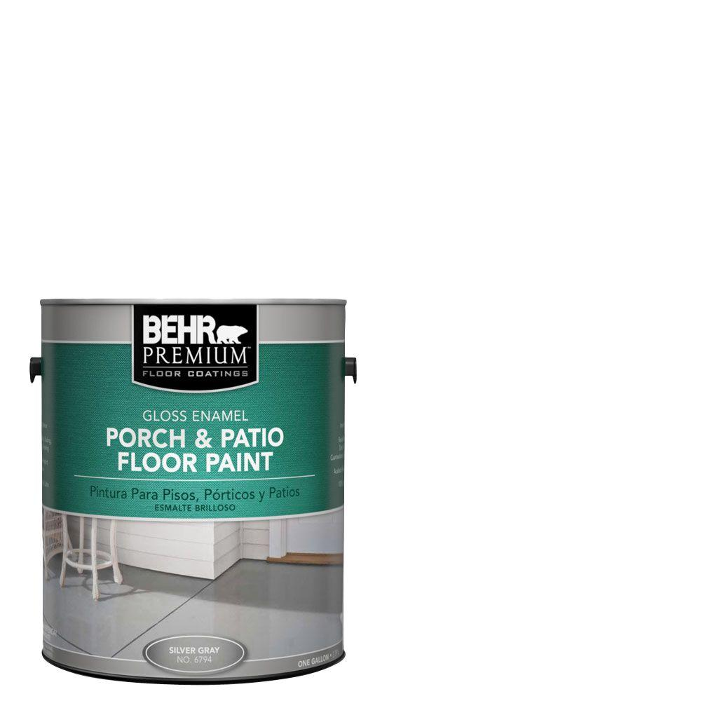 BEHR Premium 1 gal. #6705 Ultra Pure White Gloss Interior/Exterior Porch and Patio Floor Paint