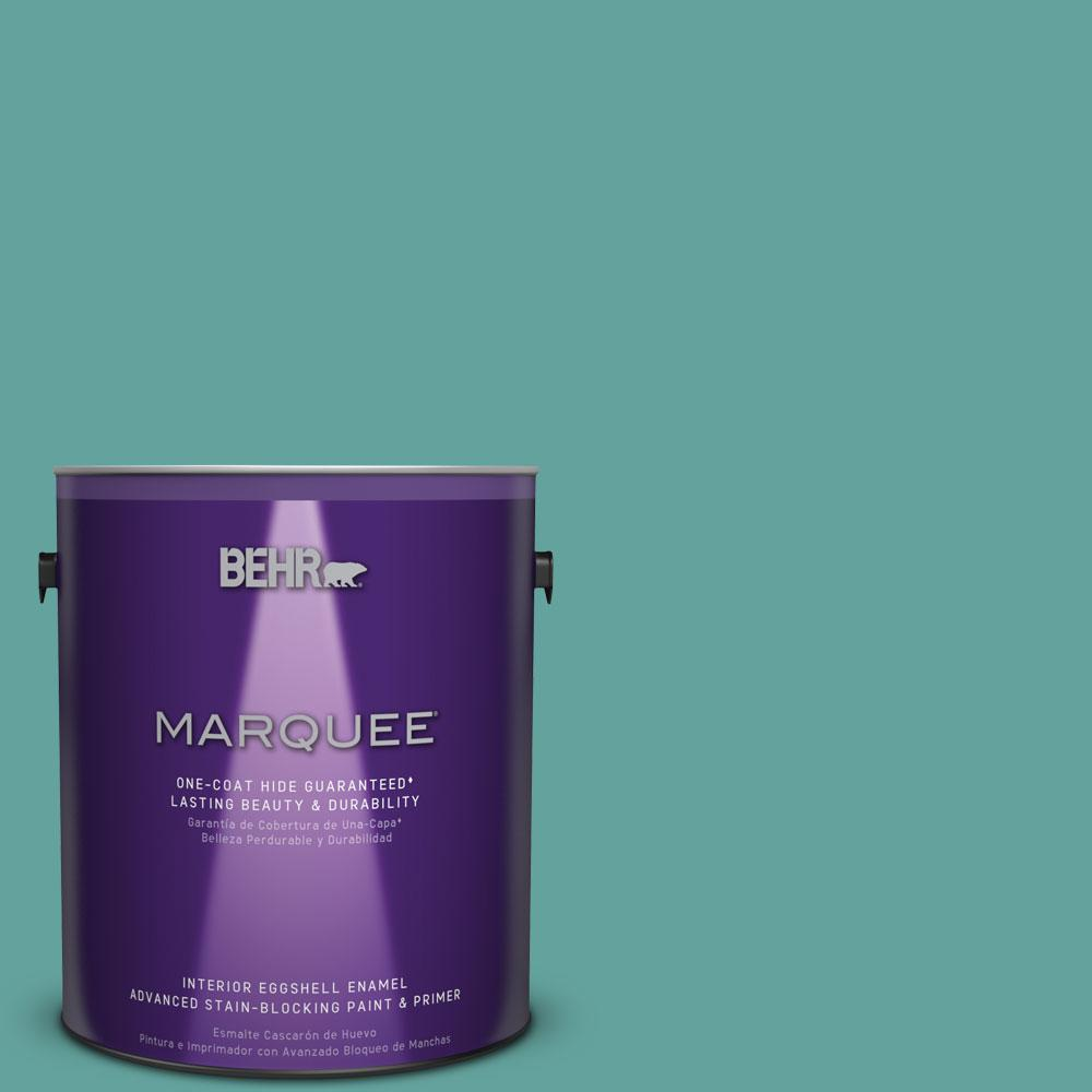1 gal. #M450-5 Aqua Rapids One-Coat Hide Eggshell Enamel Interior Paint