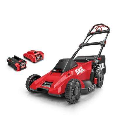 PWR CORE 20 in. 40V Lith-Ion Brushless Electric Walk Behind Self Propelled Mower, 5.0Ah Battery and Charger Included