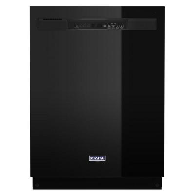24 in. Front Control Built-In Tall Tub Dishwasher in Black with Stainless Steel Tub and Dual Power Filtration