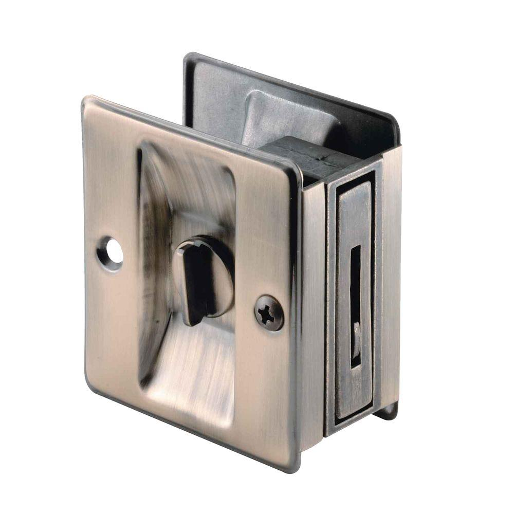Prime Line Pocket Door Privacy Lock And Pull N 6774 The Home Depot