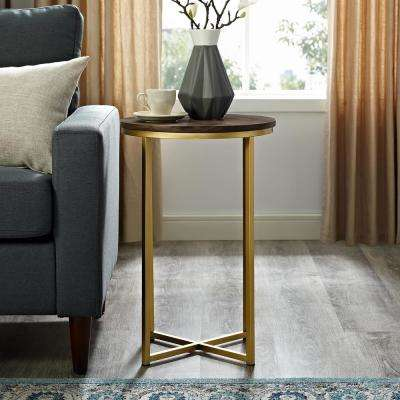 Walnut End Table Mid Century Modern Accent Tables Living